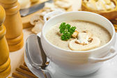 Mushroom cream soup — Stock Photo
