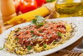 Italian food, Spaghetti — Stock Photo