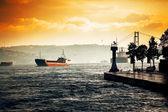 Nave in mare — Foto Stock