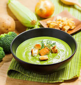 Broccoli cream soup — Stock Photo