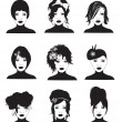 Hairstyles — Stock Vector #12778303