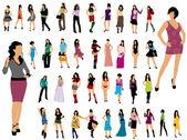 Fashion girls — Stock Vector