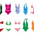 Swimming suits — Stockvectorbeeld
