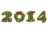 2014 wreath numbers — Stock Vector