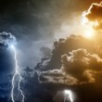 Stormy sky with lightnings — Stock Photo #13153884