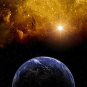 Planet in space — Stock Photo