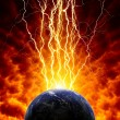 Stock Photo: Planet in danger