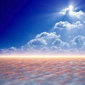 яркий свет сверху — Стоковое фото