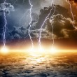 Dramatic apocalyptic background — Stock Photo