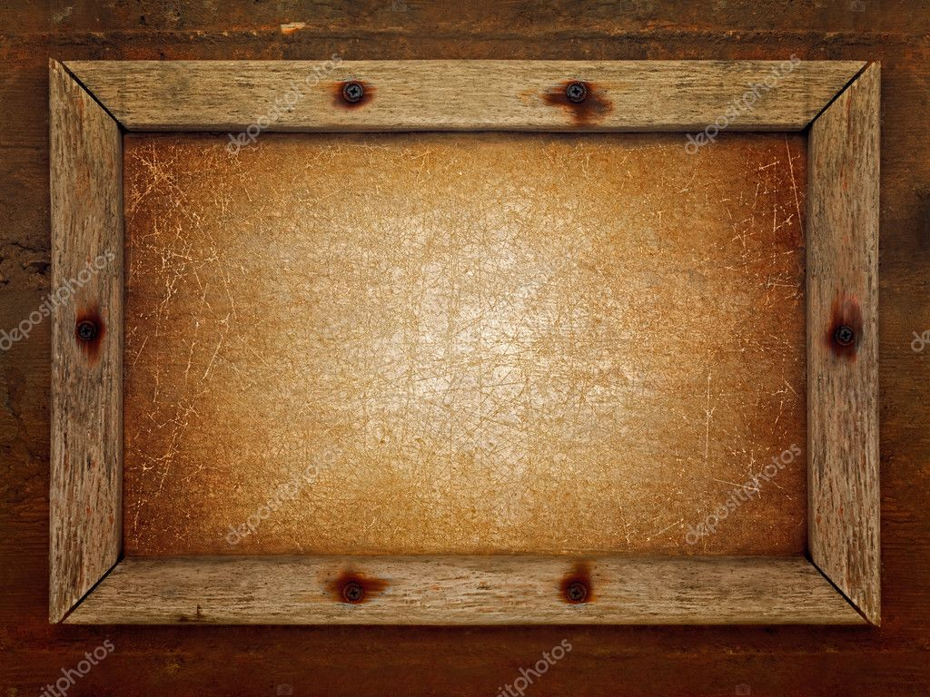 Old Wooden Picture Frames Old Dirty Brown Wooden Frame