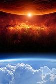 Två planeter — Stockfoto