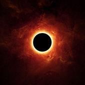 Volle eclipse, schwarzes loch — Stockfoto