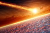 Impact de l'astéroïde — Photo