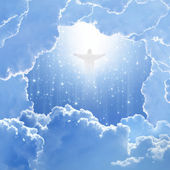 Christ in sky, easter — Stock Photo