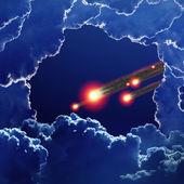 Uderzenia asteroidy — Zdjęcie stockowe