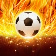 Royalty-Free Stock Photo: Soccer ball in fire