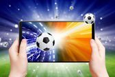 Soccer online — Stock Photo