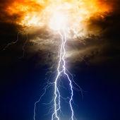 Lightnings in dark sky — Stock Photo