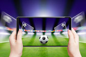 Soccer online, sports game — Stock Photo