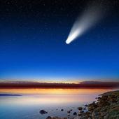 Cometa in cielo — Foto Stock
