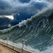 Stock Photo: Tsunami waves