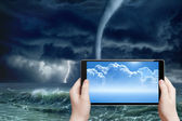 Weather forecast, augmented reality — Stock Photo