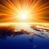 Sun above Earth — Stock Photo