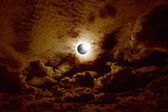 Full solar eclipse — Stock Photo