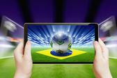 Soccer online, brazil soccer — Stock Photo