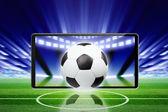 Futbol arka plan — Stok fotoğraf