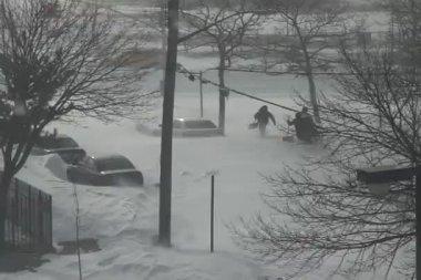 Tempestade de neve em brooklyn — Vídeo stock