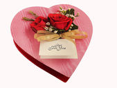 Chocolate Heart Box — Stock Photo