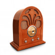 图库照片: Retro vintage wood radio