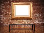 Elegante cornice con un fondo rustico — Foto Stock