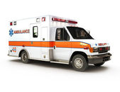 Ambulancia sobre un fondo blanco — Foto de Stock