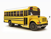 School bus with white top — Stock Photo