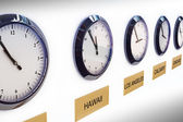 Timezone clocks — Stock Photo