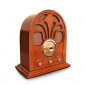 Retro vintage wood radio — Stock Photo