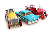 Vintage collection of toy cars . — Stok fotoğraf