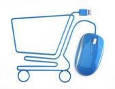 Online winkelen — Stockfoto