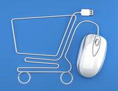 Zakupy online — Zdjęcie stockowe