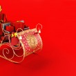 Christmas background of Santa's sleigh — Photo #26269463