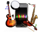 Smartphone music — Stock Photo