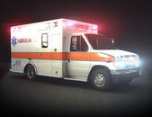 Ambulance with lights — Stock Photo
