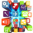Stock Photo: Smart phone apps