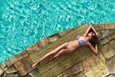 Sun bathing — Stock Photo