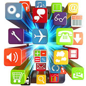 Smart phone apps — Stock Photo