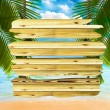 Tropical beach background — Stock Photo