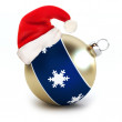 Santa hat on a Christmas Ornament — Stock Photo
