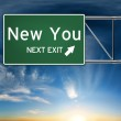 New you next exit, sign depicting a new change in life — Stock Photo #26326221